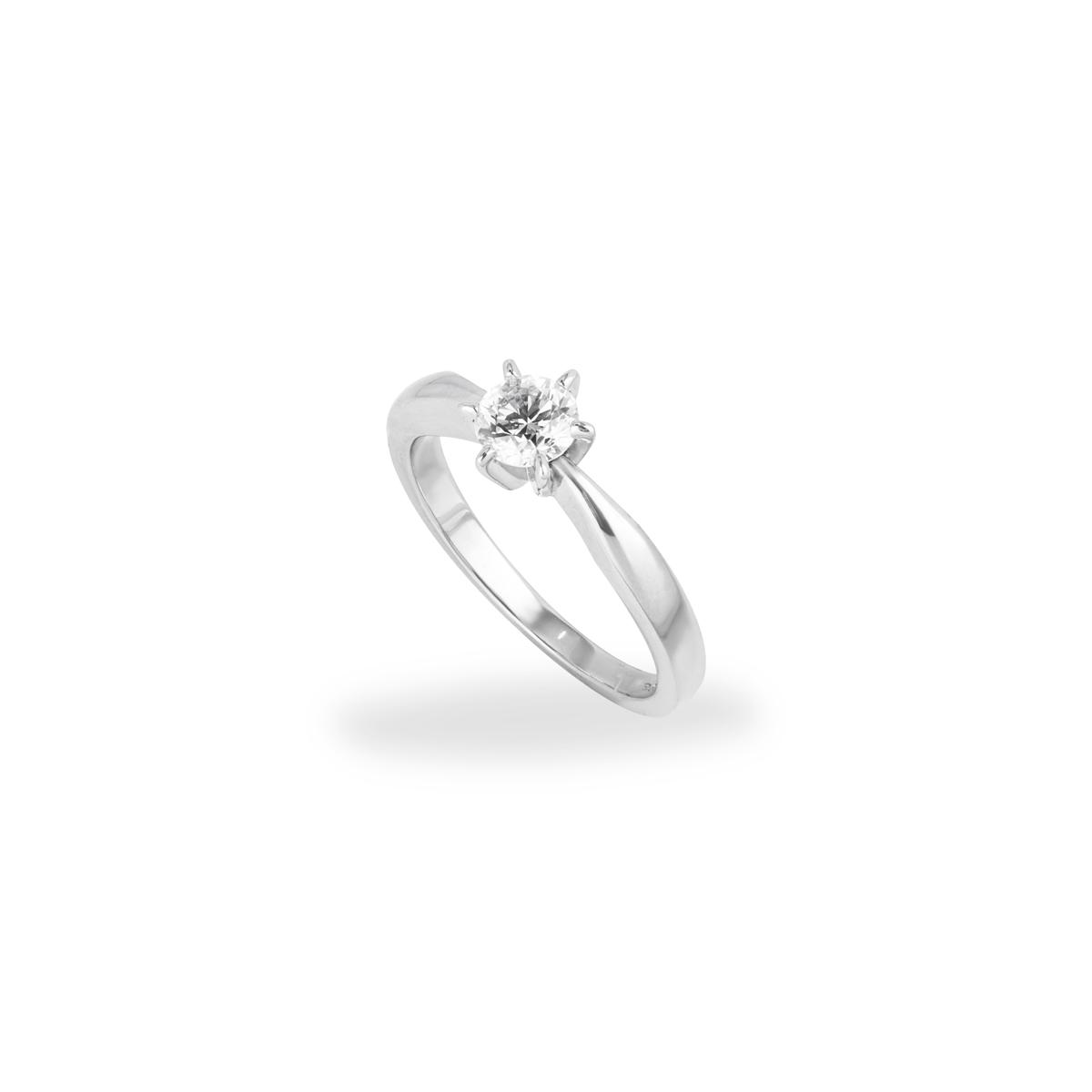 Round Brilliant Cut Diamond Ring in Platinum 0.50ct H/VS2